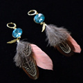 Make your own earrings with Swarovski Crystals and feathers