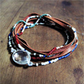 Delicas and suede leather bracelet