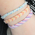 Learn how to make a Brazilian bracelet knot