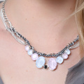 Swarovski Crystal Powder Blue and Rose necklace