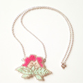 Flower necklace in brick stitch
