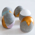 Easter Egg decoration with creative cement