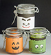 Customize small jars for Halloween