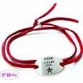 Bracelet with spacer Keep Calm