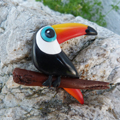Toucan in Polymer Clay