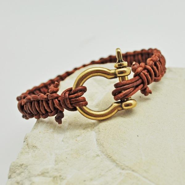 fabriquer bracelet cuir et perle