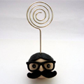 Hipster photo holder head polymer clay