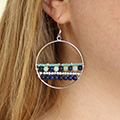 Hoops with Gemstone Beads mounted on studs