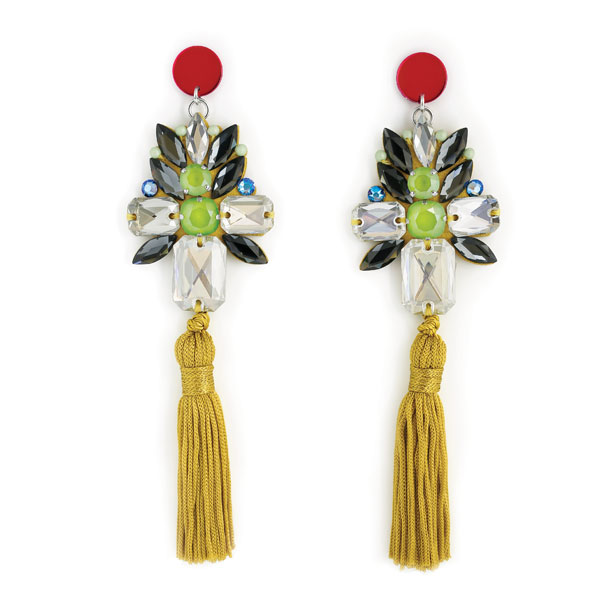9f5ae56c1fe1 Swarovski crystals earrings in crystal lime