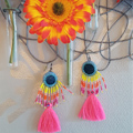 Toho rocaille and Miyuki tassel earrings
