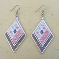 Brick stitch earrings with Swarovski Crystal Mini Mesh