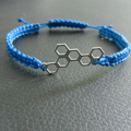 Macrame bracelet and Honeycomb spacer