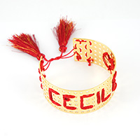 Weaved name golden bracelet