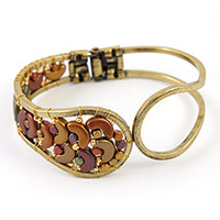 bronze Bracelet with Arcos® and Minos® Gold Iris Mat