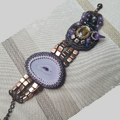 Set agate slice bracelet and Tile beads