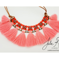 Tango necklace with Superduo and pompons