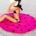 Round beach towel watermelon DIY fabric thick cotton