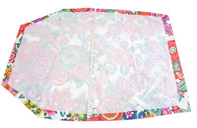 pencil skirt flower power textile perles co. Black Bedroom Furniture Sets. Home Design Ideas