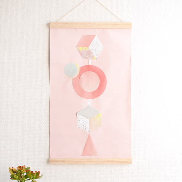 DIY Paper Craft - Paper Poster Geometric Shapes