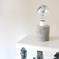 DIY Creative Concrete Lamp