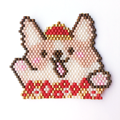 Pattern weaving brick stitch Chinese new year 2018 kawaii corgi dog sign