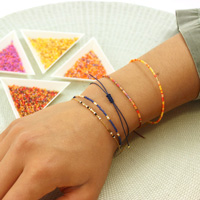 Ultra-simple Miyuki and Creole bracelets