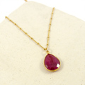 Ruby Gold Plated 925 Gold Plated Pendant Necklace