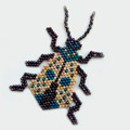 Brickstitch pattern insect weaving with pearls Miyuki Delicas picasso