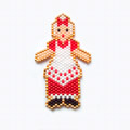 Mother Christmas pattern in brick stitch weaving with pearls Miyuki Delicas 11/0