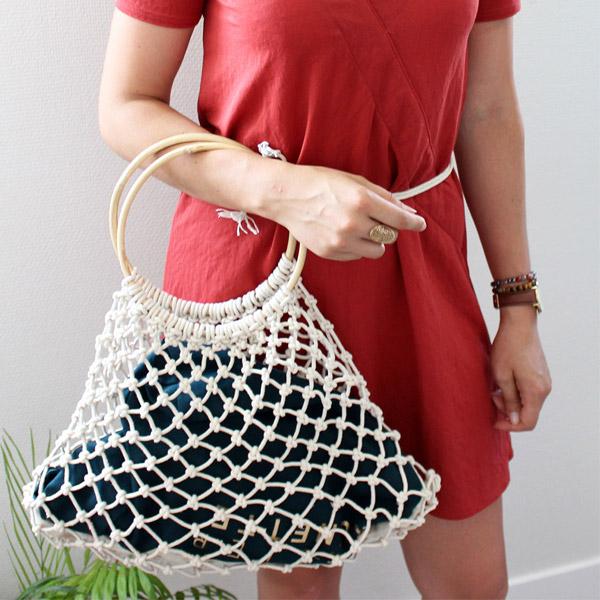 easy macrame tutorial net bag with macrame provision perles co. Black Bedroom Furniture Sets. Home Design Ideas