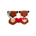 Weaving brick stitch pattern couple of otters lovers valentine's day