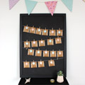 DIY Advent Calendar for tea bags with wooden fabric