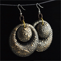 textured earrings with cernit polymer Clay