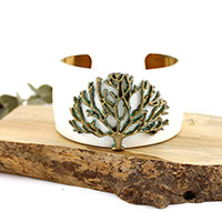 Swellegant tree and patina cuff bracelet