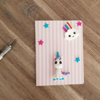 Customize your bullet journal with a unicorn in FIMO