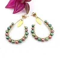 Fimo pearlised earrings with Mica powder
