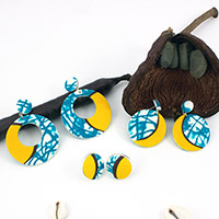 Fimo imitation wax earrings