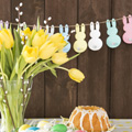 Easter bunny garland made of paper