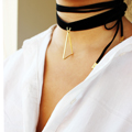 DIY choker velvet choker and suede lace