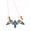 Birds necklace in weaving brick stitch style Native American