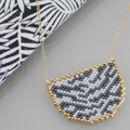 Animal necklace zebra pattern Miyuki bead weaving