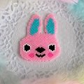 Tissage Brick Stitch motif lapin