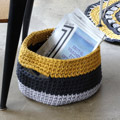 DIY crochet basket with Cesta handles by Zak said