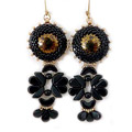 Earrings Ida with czech glassbeads Amos®, Tinos®, Arcos® and glass cabochons by Puca®
