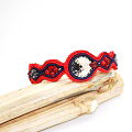 Bracelet in soutache and Swarovski crystals