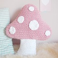 Pastel Hooked Mushroom Pillow with Natura Cotton XI by DMC