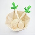 Customized salad cutlery pattern cactus with polymer clay