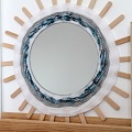 DIY deco - round mirror woven with wool