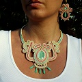 Set in soutache and Swarovski crystals