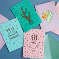 Make Cards with Paper Poetry Metallic Transfer Sheets
